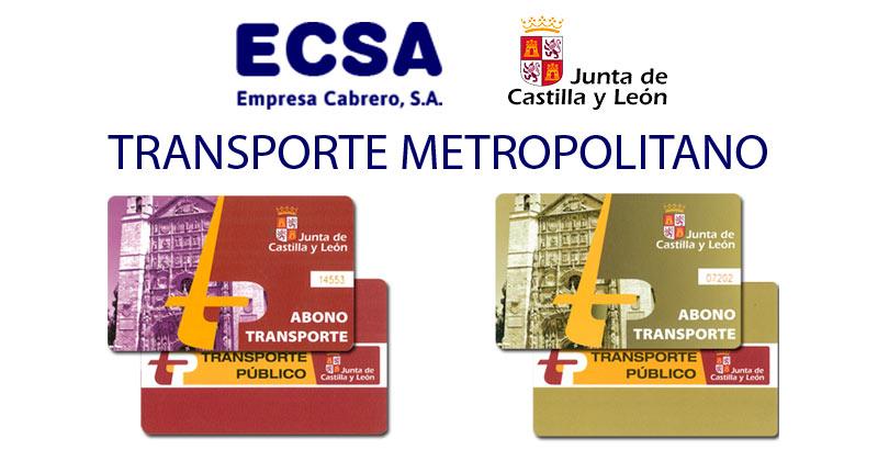 Abono transporte metropolitano