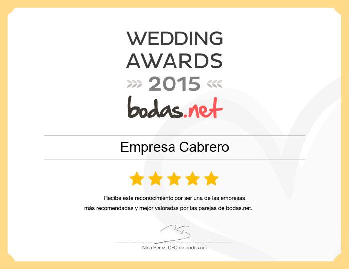 premios bodas.net 2015