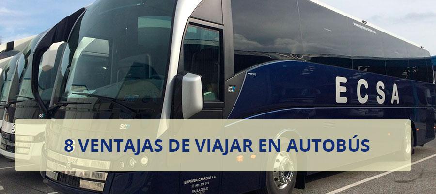 ventajas viajar autobus