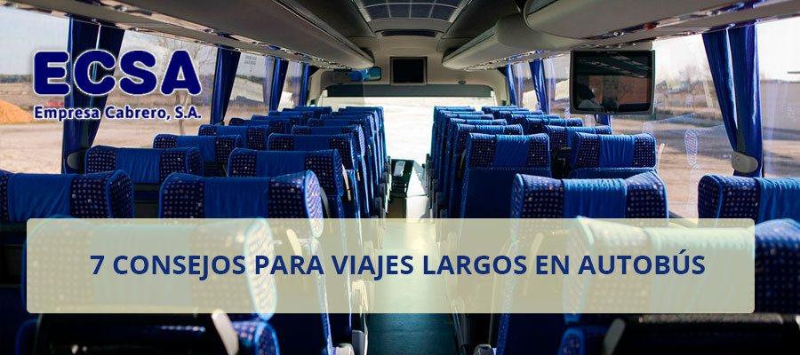 consejos para viajes largos autobus
